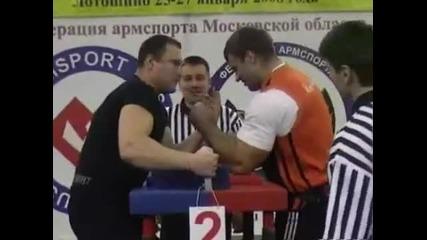 Denis Cyplenkov armwrestling