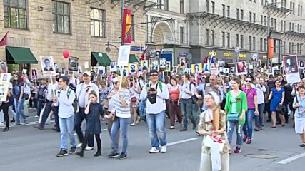 Russia: Hundreds of thousands join Immortal Regiment march in Moscow