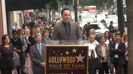 Big Bang Theory Star Jim Parsons Gets A Hollywood Star