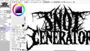 Speed Art_ Logo Design Deathmetal_deathcore_ It's Free