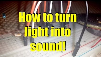 How to turn light into sound