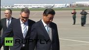 Ши Джинпинг получи военни почести при пристигането си в Москва