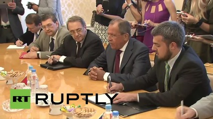 "Russia: FM Lavrov tells Syrian opposition ""everyone has an interest"" in peaceful settlement"