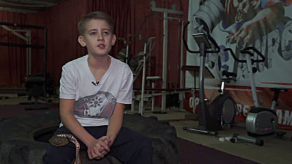 11-year-old 'strongman' pulls cars and flips tractor tires to showcase his strength