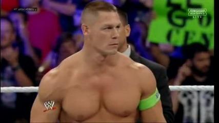 Кейн срещу Роман Рейнс срещу Джон Сина срещу Ренди Ортьн за титлата - Част 1 - Wwe Бойно Поле 2014