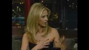 Sarah Michelle Gellar В Шоуто На Letterman