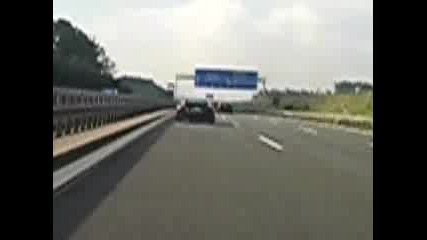 Audi R8 cant shake a 335i on the Autobahn