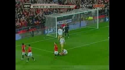 Манчестър Юнайтед - Мидълзбро 4 - 1 ( Тевез )