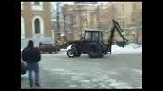 Дрифт С Трактор На Сняг