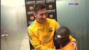 Сляпо момче позна футболистите на Барса