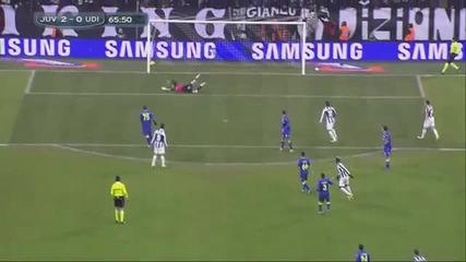 Двата гола на Паул Погба срещу Удинезе