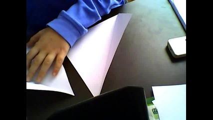 Как да си направим сами нинджа звезда(шурикен от хартия)