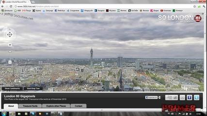 Интересно - 80 гигапикселова снимка на Лондон