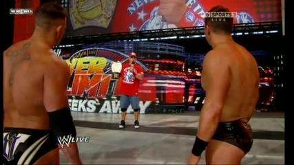 John Cena vs The Miz At Over The Limit I Quit Match