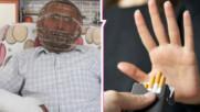 Мъж спира цигарите с клетка! Направи си от мед, заключи си главата и остана без ключове