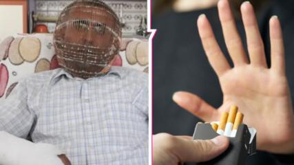 Мъж спира цигарите с клетка! Направи я от мед, заключи си главата и остана без ключове