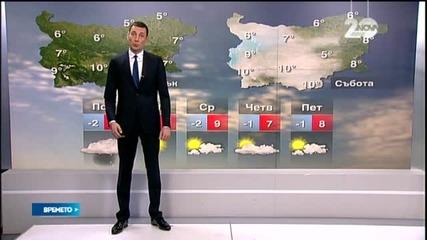Прогноза за времето (12.01.2015 - обедна)