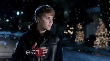 Елън се опитва да разкара Justin Bieber от пътя