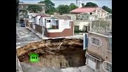 В Гватемала се е образувала гигантска дупка в земята