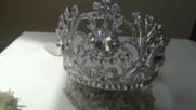 Елегантна корона за коса с кристали- Goddess Persephone от Absoluterose.com