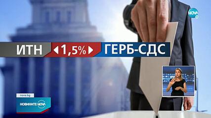 """Разликата между ГЕРБ-СДС и """"Има такъв народ"""" е 1,5 %"""