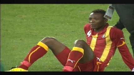 Най - драматичния мач на световното Уругвай - Гана (1 - 1) 4 - 2
