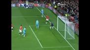 29.10 финт и пас на Бербатов за гол на Роналдо - 2:0 за Манчестър
