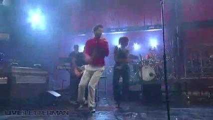 Джо Джонас на живо от шоуто на Летърман - See No More ( Перфектно Качество)