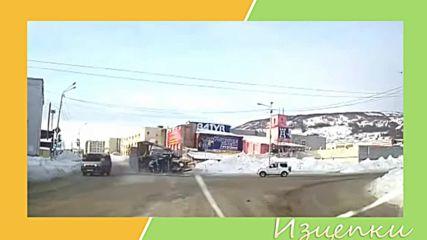 Бързащи шофьори изсипват товара на пътя