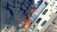 Wildfire Chases Motorists Across California Freeway