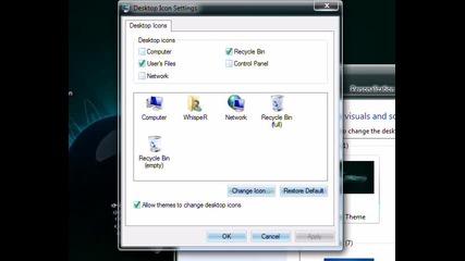 windows 7 [3 urok] kak da slojim i mahnem ikonite my compyutar i dr.. :)