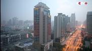 Разрушаване на 118 метрова сграда в Китай