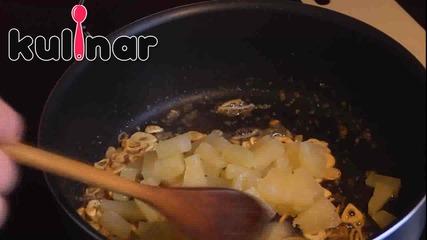 Рецепта за бяла риба с хрупкава кокосова коричка и ананасово - джинджифилов сос