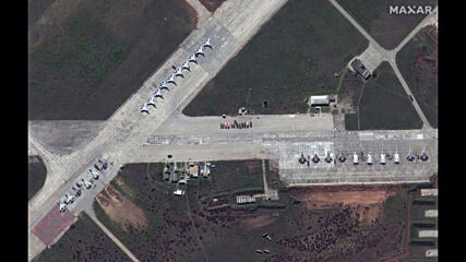 Russia: Satellite image show Russian military buildup on Ukrainian border *STILLS*