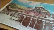 Рилският манастир - рисуване с цветни моливи