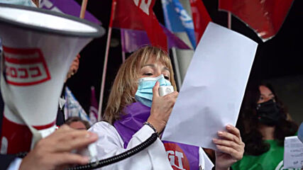 Spain: Health workers demand better working conditions at Madrid hospital protest