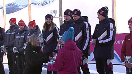 Switzerland: Russia wins gold in luge team relay at Youth Olympics