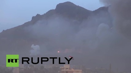 Yemen: 'Mother of all explosions' shakes Sanaa as Arab coalition strikes 'arms depot'