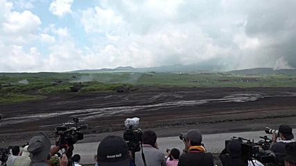 Japan: SDF hold live-fire military drills near Mount Fuji