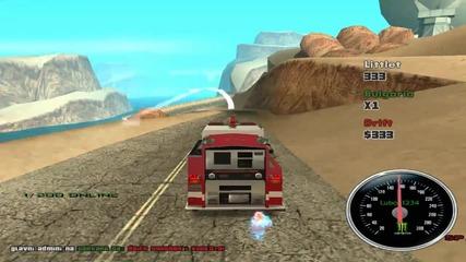 Gta drift with firetruck