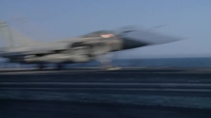 Mediterranean Sea: French jets lift off from Charles de Gaulle to strike IS in Syria, Iraq