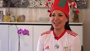 Iran: Fan flies to Russia World Cup 'to be as equal as men'