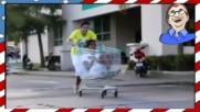 Неуспешни каскади с колички за пазаруване - Смях