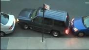 Как се излиза от паркинг, когато си блокиран от две коли !