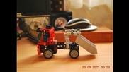 Стоп кадър филмче с камионче от конструктор Lego