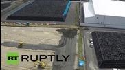 Дрон засне тонове ядрени отпадъци край Фукушима