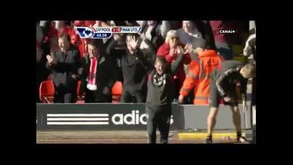 Ливърпул за малко да победи Юнайтед 1:1