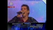 Music Idol 2 Изпълнението На Денислав - Трети голям концерт / 07.04.08 /