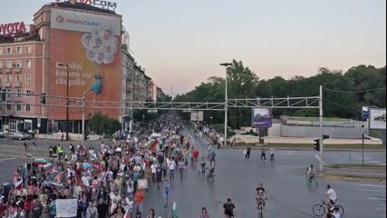 Колко хора имаше на ден 20 от протеста? Не знам, ето ги - много.