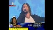Уникалната версия на химна на Европа - ръченица в изпълнение на Тома на Финала на music idol 2 02.06